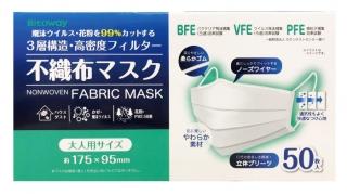 ファンケル、不織布マスク