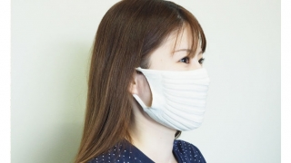石川メリヤス、無縫製ニットプリーツマスク