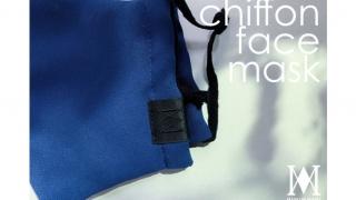 夏用マスク、chiffon face mask