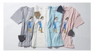 エドウイン、江口寿史さん描き下ろしのCOOLデニムマスク付きチャリティTシャツ