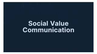 プラチナム、Social Value Communication